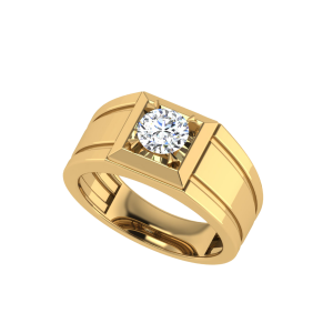 The Aaron Men`s Solitaire Diamond Ring