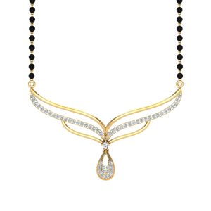 The Adorable Mangalsutra With Black Beads Gold Chain