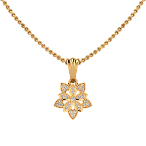 The Floral Spray Diamond Pendant