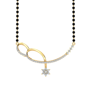 The Bliss Mangalsutra With Black Beads Gold Chain