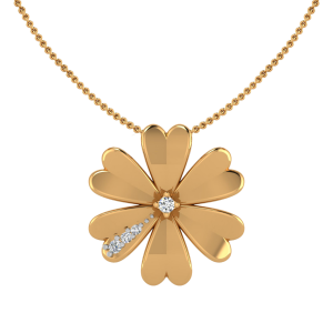 The Eternal Bloom Flower Diamond Pendant