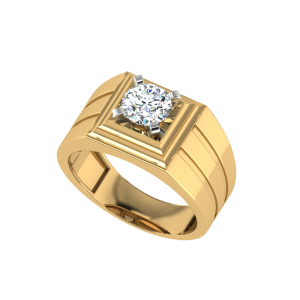The Jaison Men`s Solitaire Diamond Ring