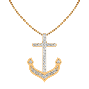 The Anchor Diamond Pendant