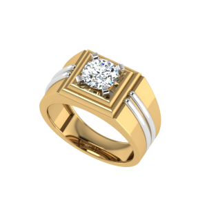 The Nahum Men`s Solitaire Diamond Ring