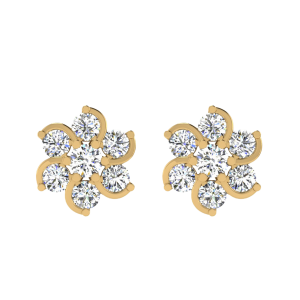 Get Trapped Diamond Stud Earrings
