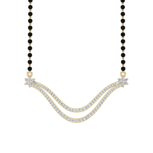 The Fantastic Mangalsutra With Black Beads Gold Chain