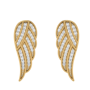 Travel On Angles Wings Diamond Stud Earrings