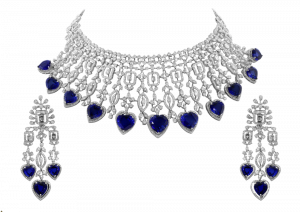 Eternal Flowers With Sapphire Diamond Necklace