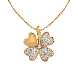 The Clover Leaf Diamond Pendant