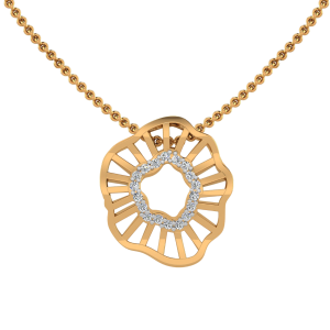 The Asymmetric Fashion Diamond Pendant