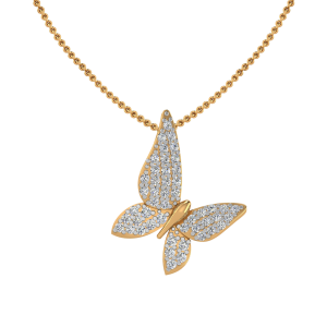 The Butterfly Sway Diamond Pendant