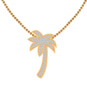The Palm Tree Diamond Pendant