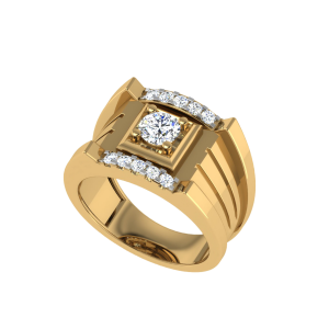 The Saul Men`s Solitaire Diamond Ring