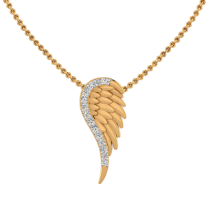 The Angel Wing Diamond Pendant