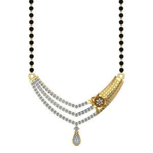 The Soulful Mangalsutra With Black Beads Gold Chain