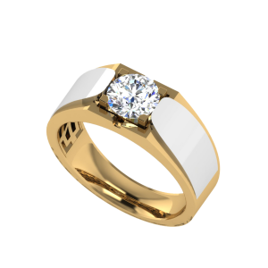 Two Hearts One Soul Solitaire Diamond Ring