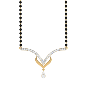 The Marvelous Mangalsutra With Black Beads Gold Chain