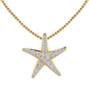 The Starfish Charm Diamond Pendant