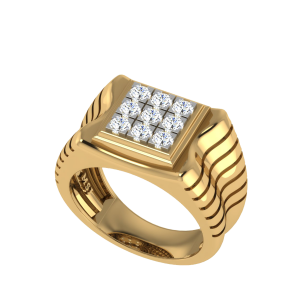 The Mimas Men`s Nine Diamond Ring