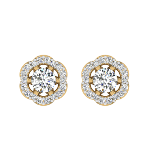 Let`s Party Diamond Solitaire Stud Earrings