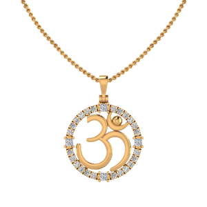 Om Design Diamond Pendant