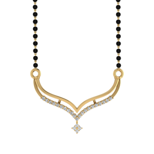 The Jovial Mangalsutra With Black Beads Gold Chain