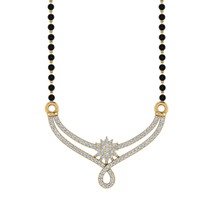 The Rejoice Mangalsutra With Black Beads Gold Chain