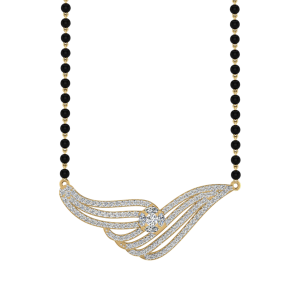 The Appealing Mangalsutra With Black Beads Gold Chain