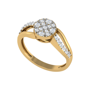 Think Of Yourself Aloud Designer Diamond Ring