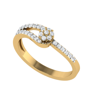 Hand In Hand Floral Diamond Ring