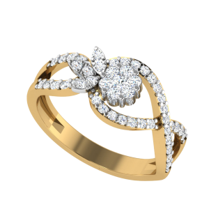 The Flower & Sunshine Designer Diamond Ring