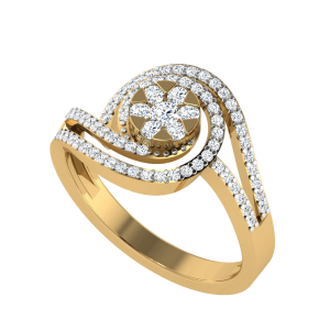 The Whirlpool Of Emotions Designer Diamond Ring