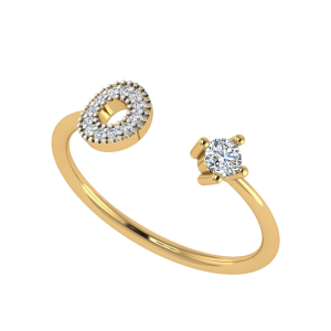 Open Round Frame Diamond Ring