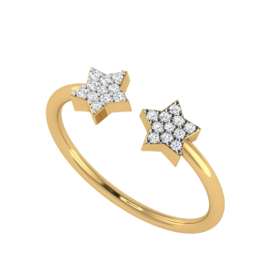 Two Stars In One Sphere Diamond Ring