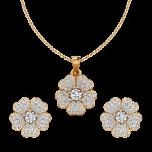 The Floral Fog Diamond Pendant Set