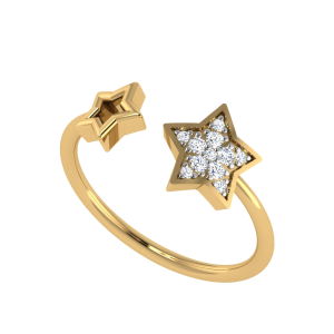 The Star`s Chemistry Diamond Ring