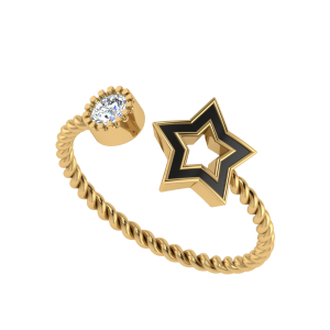 The Universal Landmark Diamond Ring W/ Enamel