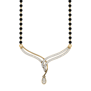 The Fabulous Mangalsutra With Black Beads Gold Chain