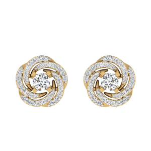 The Swirl & Swing Diamond Stud Earrings