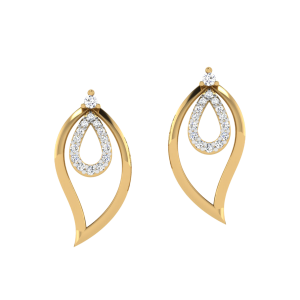 The Dripping Droplets Diamond Stud Earrings