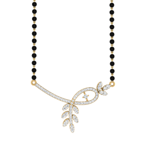 The Serein Mangalsutra With Black Beads Gold Chain