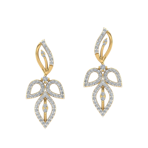The Leafy Vogue Diamond Stud Earrings