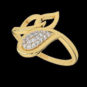 The Twine Sparkle Gold Diamond Ring
