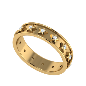 The Starline Script Diamond Couple Band