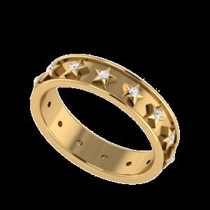 The Starline Script Couple Band Diamond Ring