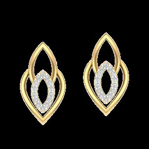 The Drizzle Diamond Stud Earrings