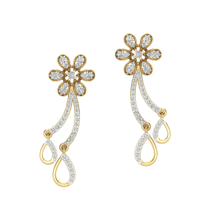 The Finest Floret Diamond Stud Earrings