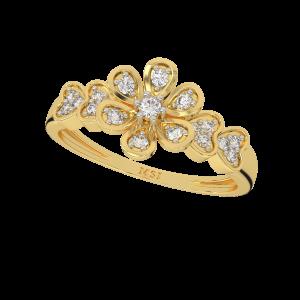 Flower By Heart Designer Diamond Ring