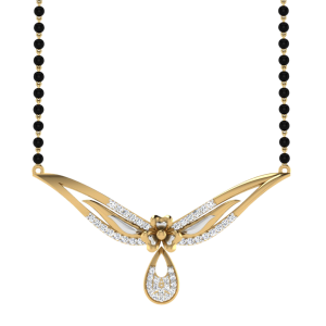 The Ineffable Mangalsutra With Black Beads Gold Chain