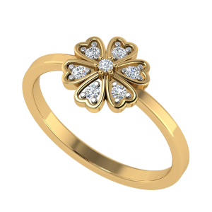 The Blossom Sign Floral Diamond Ring